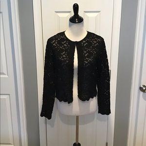 Dressbarn Black Lace Cardigan